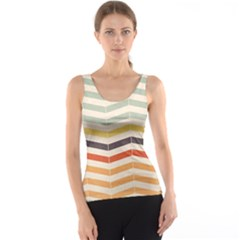 Abstract Vintage Lines Tank Top
