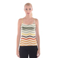 Abstract Vintage Lines Spaghetti Strap Top