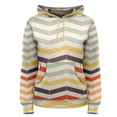 Abstract Vintage Lines Women s Pullover Hoodie
