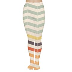 Abstract Vintage Lines Women s Tights