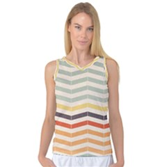 Abstract Vintage Lines Women s Basketball Tank Top