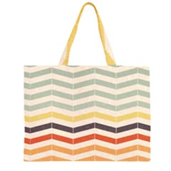 Abstract Vintage Lines Large Tote Bag