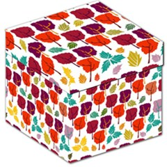 Colorful Trees Background Pattern Storage Stool 12