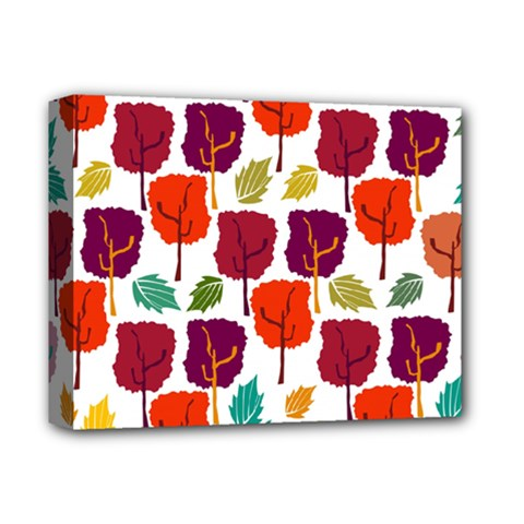 Colorful Trees Background Pattern Deluxe Canvas 14  x 11