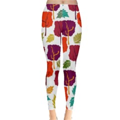 Colorful Trees Background Pattern Leggings