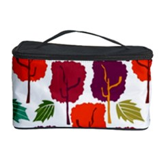 Colorful Trees Background Pattern Cosmetic Storage Case