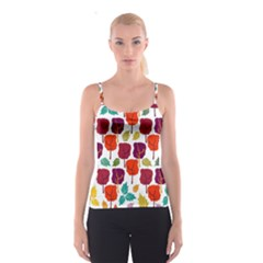 Colorful Trees Background Pattern Spaghetti Strap Top