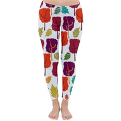 Colorful Trees Background Pattern Classic Winter Leggings