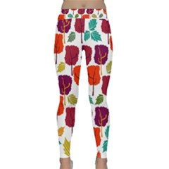Colorful Trees Background Pattern Classic Yoga Leggings