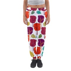 Colorful Trees Background Pattern Women s Jogger Sweatpants