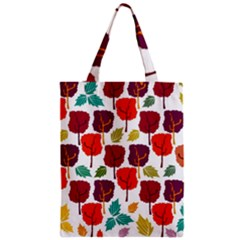 Colorful Trees Background Pattern Zipper Classic Tote Bag