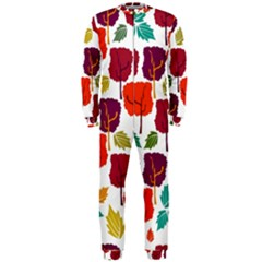 Colorful Trees Background Pattern Onepiece Jumpsuit (men)