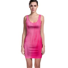 Very Pink Feather Sleeveless Bodycon Dress