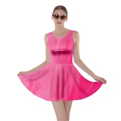 Very Pink Feather Skater Dress