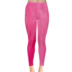 Very Pink Feather Leggings