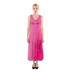Very Pink Feather Sleeveless Maxi Dress