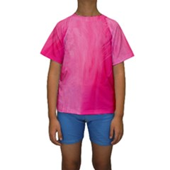 Very Pink Feather Kids  Short Sleeve Swimwear