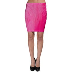 Very Pink Feather Bodycon Skirt
