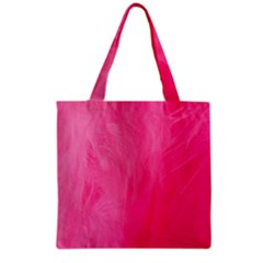 Very Pink Feather Grocery Tote Bag