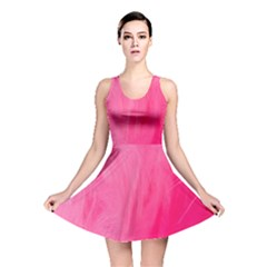 Very Pink Feather Reversible Skater Dress