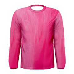 Very Pink Feather Men s Long Sleeve Tee