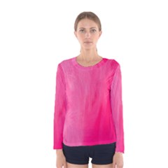 Very Pink Feather Women s Long Sleeve Tee