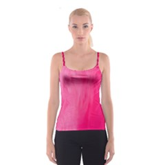 Very Pink Feather Spaghetti Strap Top