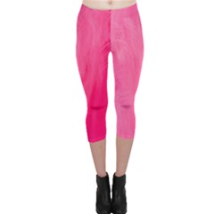 Very Pink Feather Capri Leggings