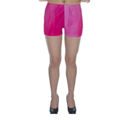 Very Pink Feather Skinny Shorts
