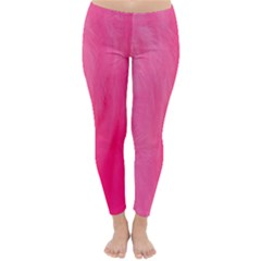 Very Pink Feather Classic Winter Leggings