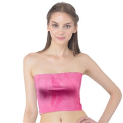Very Pink Feather Tube Top