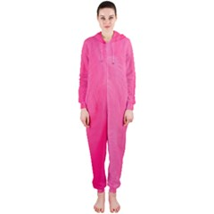Very Pink Feather Hooded Jumpsuit (Ladies)