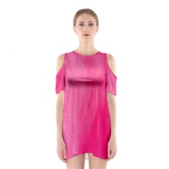 Very Pink Feather Shoulder Cutout One Piece