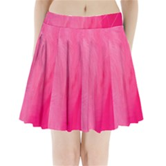 Very Pink Feather Pleated Mini Skirt