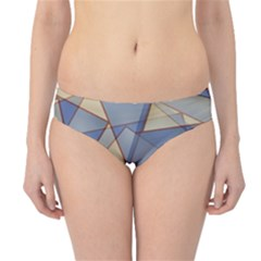 Blue And Tan Triangles Intertwine Together To Create An Abstract Background Hipster Bikini Bottoms
