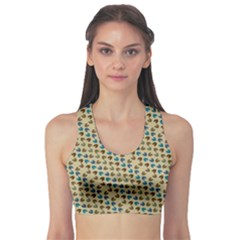 Abstract Seamless Pattern Sports Bra