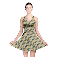Abstract Seamless Pattern Reversible Skater Dress