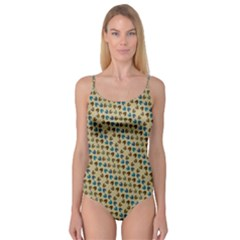 Abstract Seamless Pattern Camisole Leotard