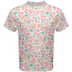 Geometric Abstract Triangles Background Men s Cotton Tee