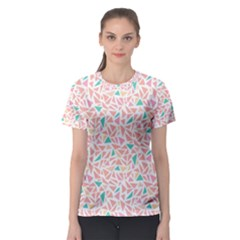 Geometric Abstract Triangles Background Women s Sport Mesh Tee
