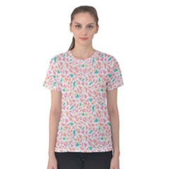 Geometric Abstract Triangles Background Women s Cotton Tee