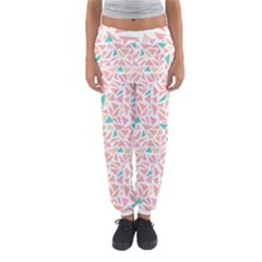Geometric Abstract Triangles Background Women s Jogger Sweatpants