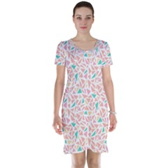 Geometric Abstract Triangles Background Short Sleeve Nightdress