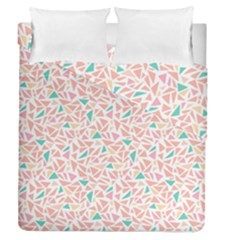 Geometric Abstract Triangles Background Duvet Cover Double Side (queen Size)