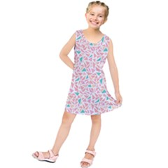 Geometric Abstract Triangles Background Kids  Tunic Dress