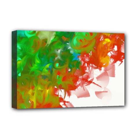 Digitally Painted Messy Paint Background Texture Deluxe Canvas 18  x 12