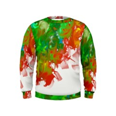 Digitally Painted Messy Paint Background Texture Kids  Sweatshirt