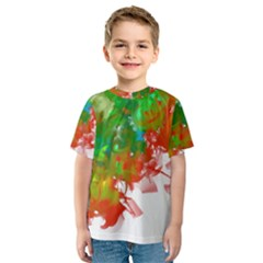 Digitally Painted Messy Paint Background Texture Kids  Sport Mesh Tee