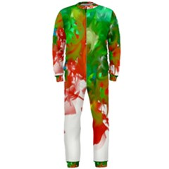 Digitally Painted Messy Paint Background Texture OnePiece Jumpsuit (Men)