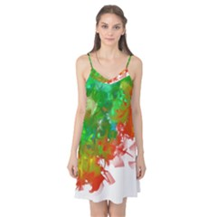 Digitally Painted Messy Paint Background Texture Camis Nightgown